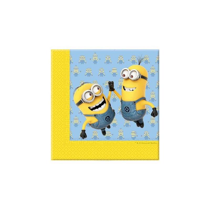 Serviettes en papier pour anniversaire enfant thème Minions