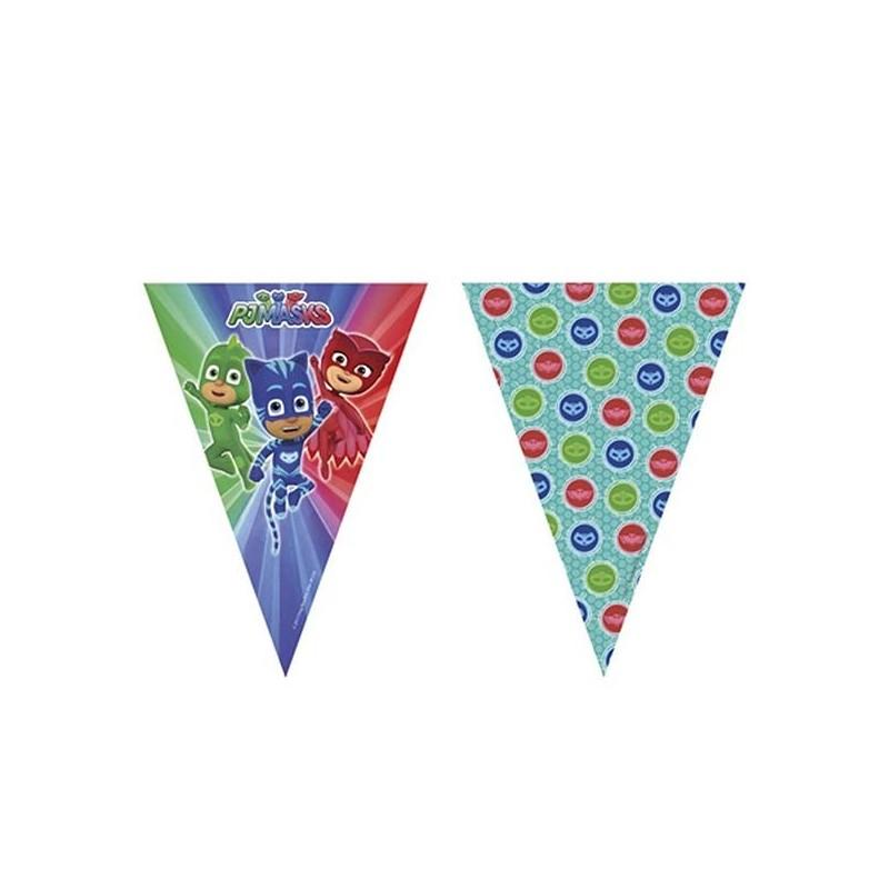 Guirlande pour décoration d'anniversaire Pyjamasques enfant