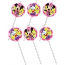 Pailles d'anniversaire sur le thème de Minnie Disney
