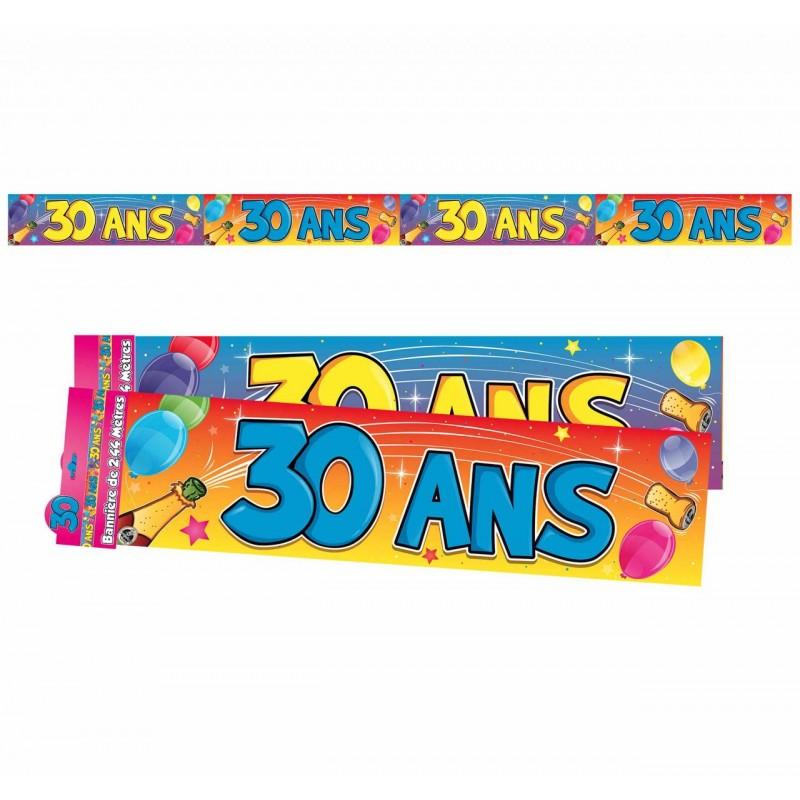 Bannière Anniversaire 30 ans