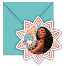Cartes d'invitation pour anniversaire enfant Vaiana