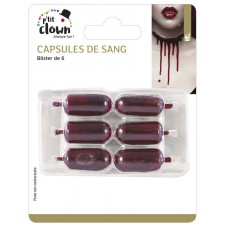 Faux sang en capsules pour maquillage Halloween