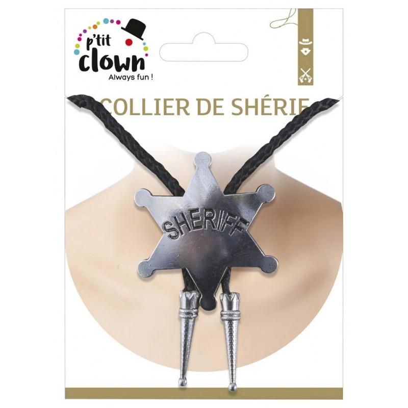 Collier de shérif pour accessoiriser un déguisement de cowboy