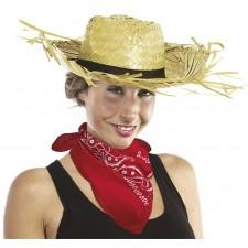 Bandana rouge pour accessoiriser un déguisement de cowboy