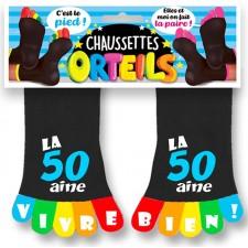 Cadeau d'anniversaire marrant chaussettes orteils colorés pour homme