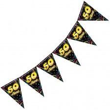 Guirlande colorée pour décoration d'anniversaire 50 ans