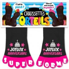 Chaussettes orteils femme pour anniversaire accessoire