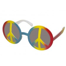 Lunettes peace and love pour déguisement hippie