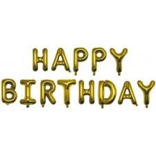 Ballons lettres happy birthday pour décoration d'anniversaire chic