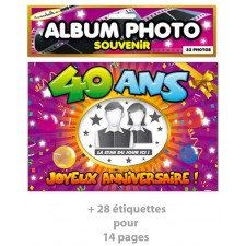 Cadeau d'anniversaire album photo 40 ans