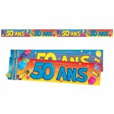 Bannière guirlande 50 ans pour déco d'anniversaire