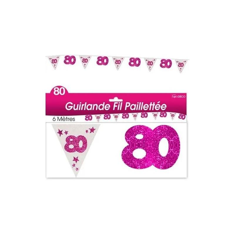 Guirlande rose pour décoration d'anniversaire rose