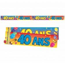 Banderoles décoratives anniversaire 40 ans