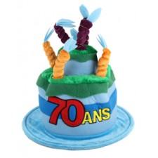 Chapeau 70 ans pour anniversaire