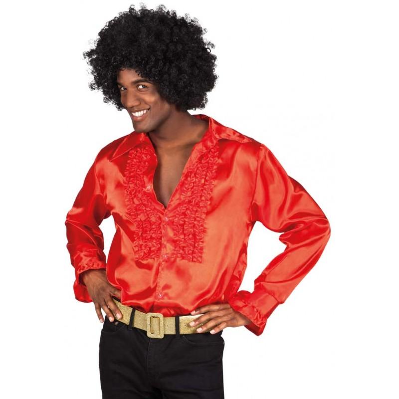Déguisement chemise disco rouge