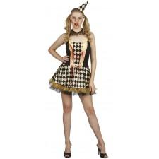 Costume arlequine Halloween pour femme