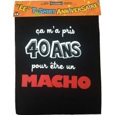 Tee-shirt humoristique pour anniversaire 40 ans