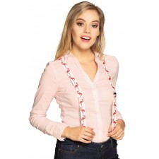 Accessoire bretelles de flamant rose