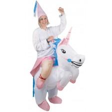 Déguisement porte-moi licorne gonflable adulte