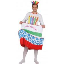Costume homme en forme de gâteau d'anniversaire