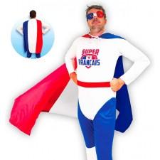 Costume de supporter super français bleu blanc rouge