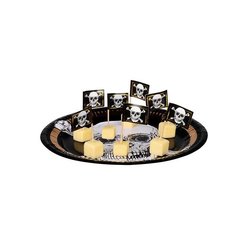 Pics décoratifs thème pirate pour amuse-bouches ou gâteau
