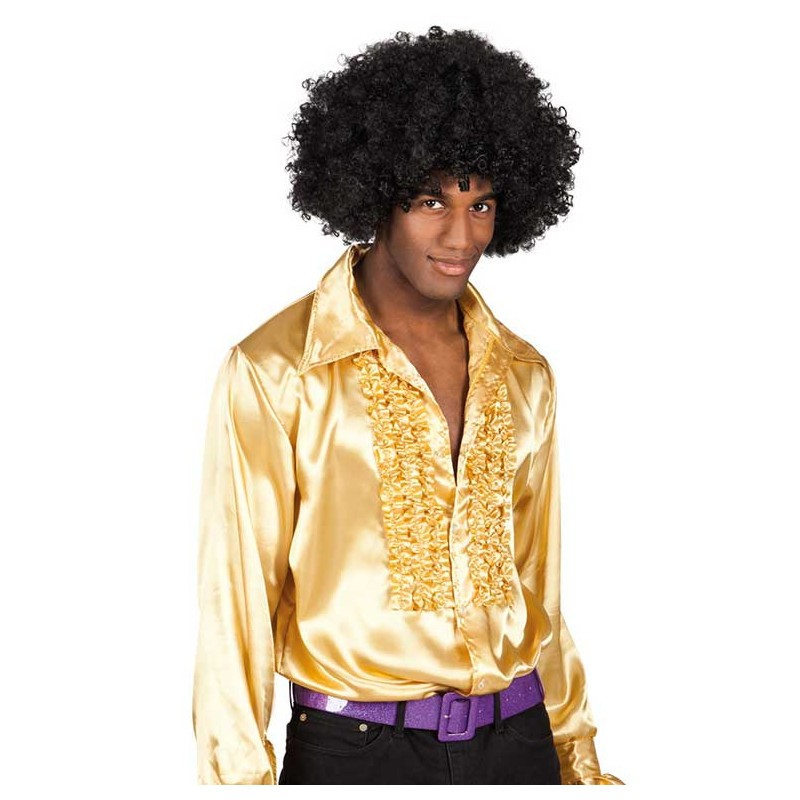 Chemise disco couleur or pour homme