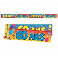 Banderole 60 ans pour anniversaire