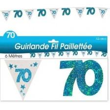 Guirlande d'anniversaire bleue pour les 70 ans