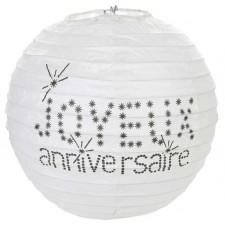 Lanternes blanches de 20 cm pour décoration d'anniversaire