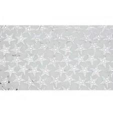 Nappe organza avec étoiles couleur argent