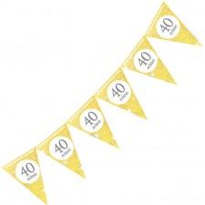 Guirlande dorée pour anniversaire 40 ans