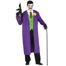 Costume d'Halloween homme bouffon style joker