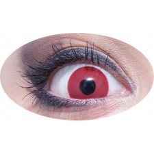 Lentilles de contact rouges pour Halloween démon