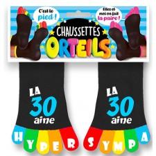 Chaussettes orteils humoristiques pour anniversaire 30 ans accessoire marrant
