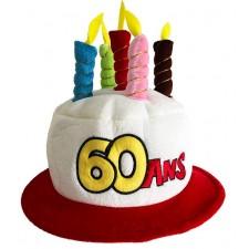 Chapeau gâteau anniversaire 60 ans