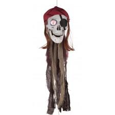 Tête de mort pirate avec œil lumineux pour réaliser un décoration d'Halloween