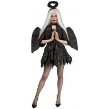 Costume ange déchu noir femme pour Halloween
