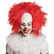 Perruque de clown tueur cheveux rouges pour Halloween