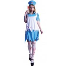 Costume d'infirmière sanglant femme pour Halloween