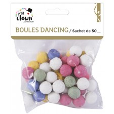 Sachet contenant 50 boules dancing pour faire la fête avec des cotillons