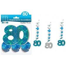 Suspensions bleues anniversaire 80 ans