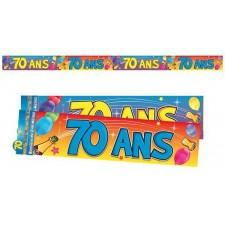 Bannière 70 ans décoration anniversaire