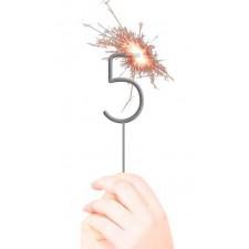 Cierge magique en forme de chiffre 5