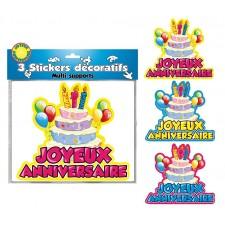 Stickers décoratifs anniversaire