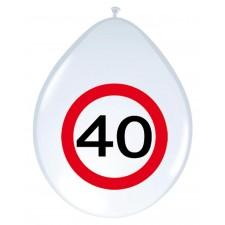 Ballons latex pour anniversaire 40 ans