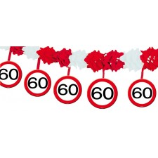 Guirlande 60 ans décorative pour anniversaire