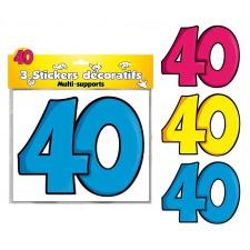 Décoration 40 ans stickers