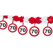 Banderole anniversaire 70 ans rouge et blanche