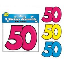 Stickers décoratifs 50 ans anniversaire